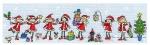 Row of Christmas Fairies