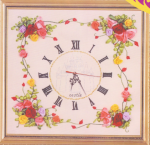 Набор для вышивки лентами «Часы»