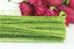 Проволка светло-зеленая с люрексом